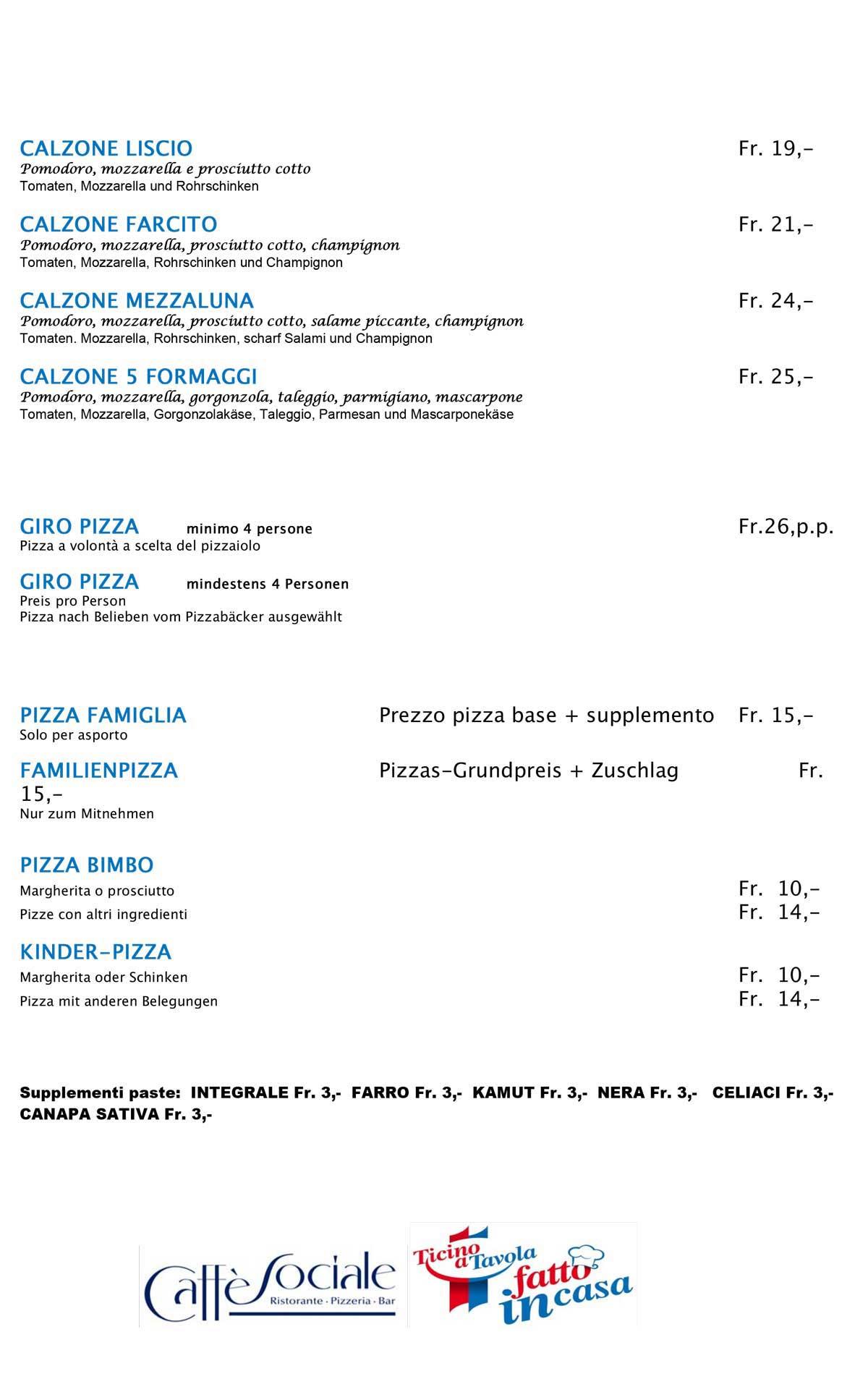 Ristorante Sociale Riva san Vitale menu pizze pag 4
